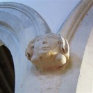 Photo:14th century Headstop on a South aisle pillar